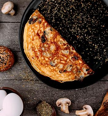 Fritaja s tri vrste sira i nareskom Cvit Dalmata