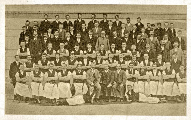 Dio tvorničkih radnika 1906.